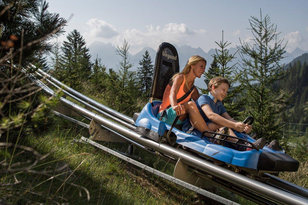 bob su rotaia Alpine Coaster Gardonè predazzo val di fiemme trentino