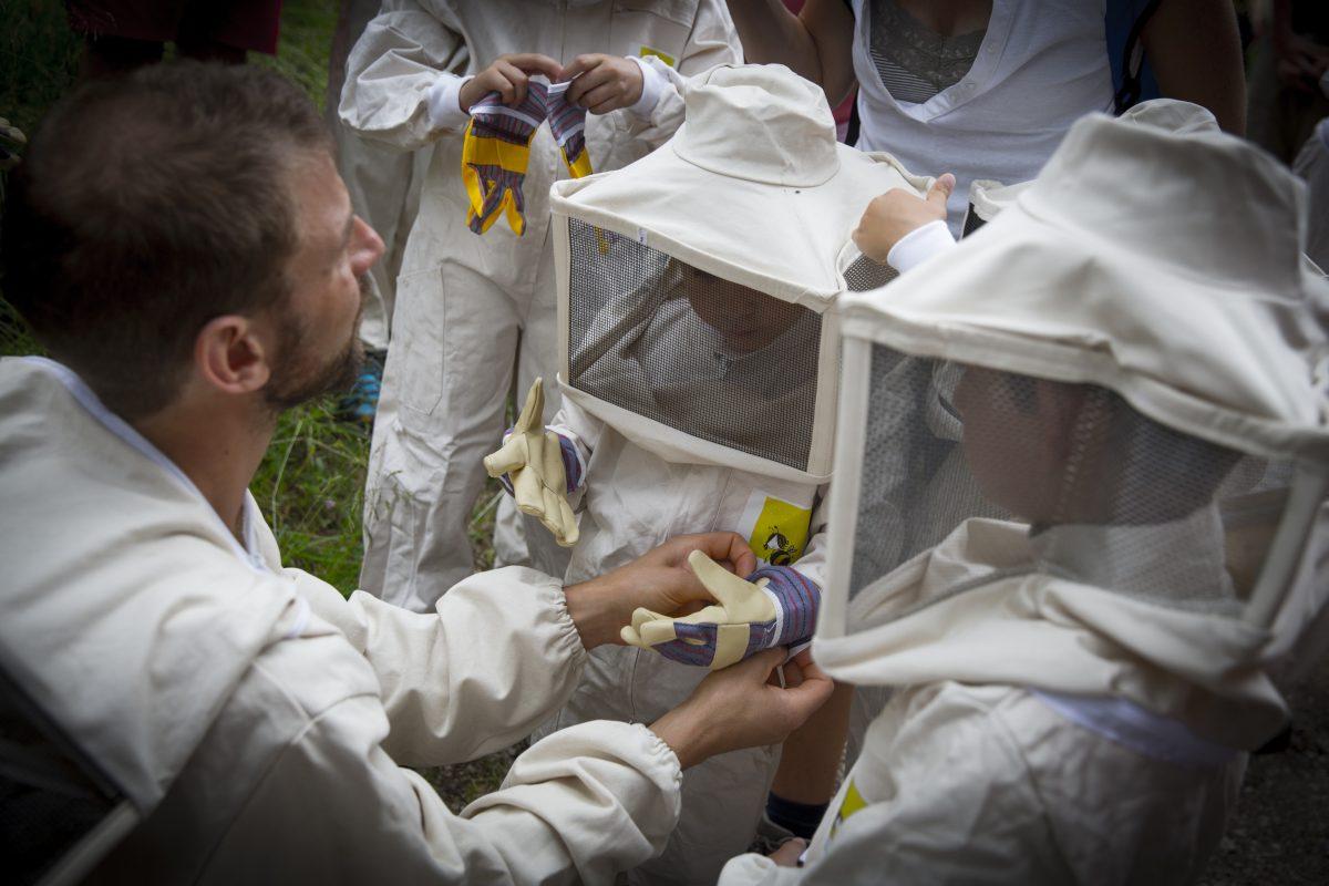 spettacolo itinerante apicoltore predazzo val di fiemme