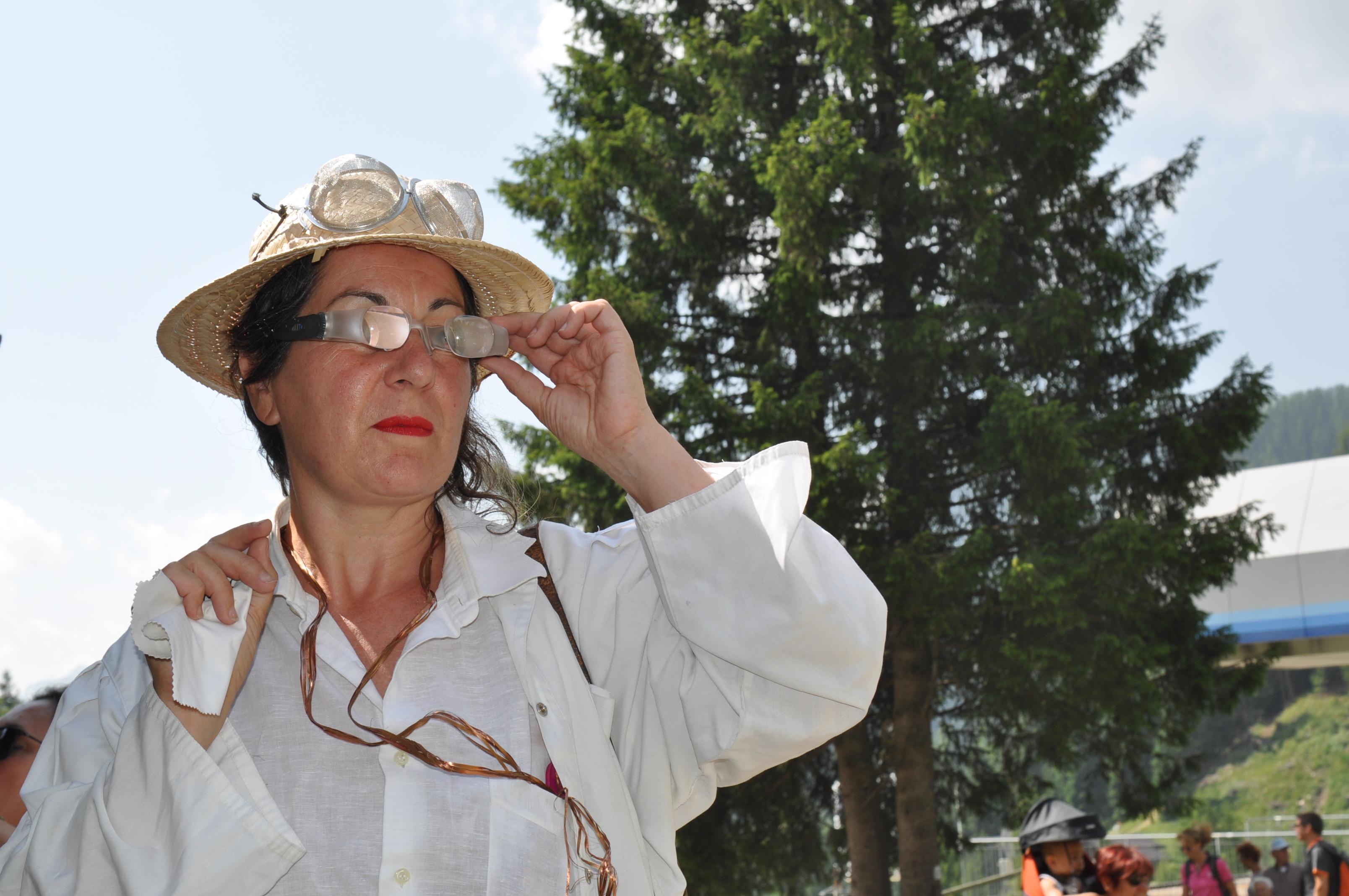 occhiali per avvistare il dahú