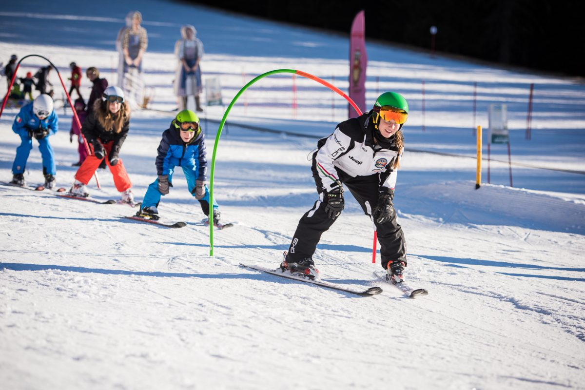 parco giochi sulla neve a obereggen
