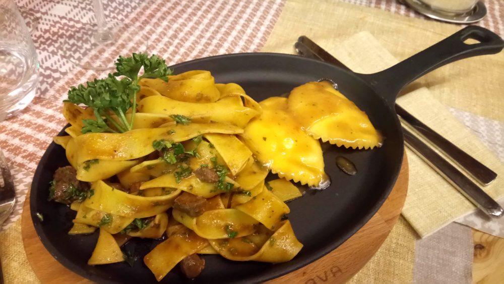 ravioli di polenta e montasio chalet caserina