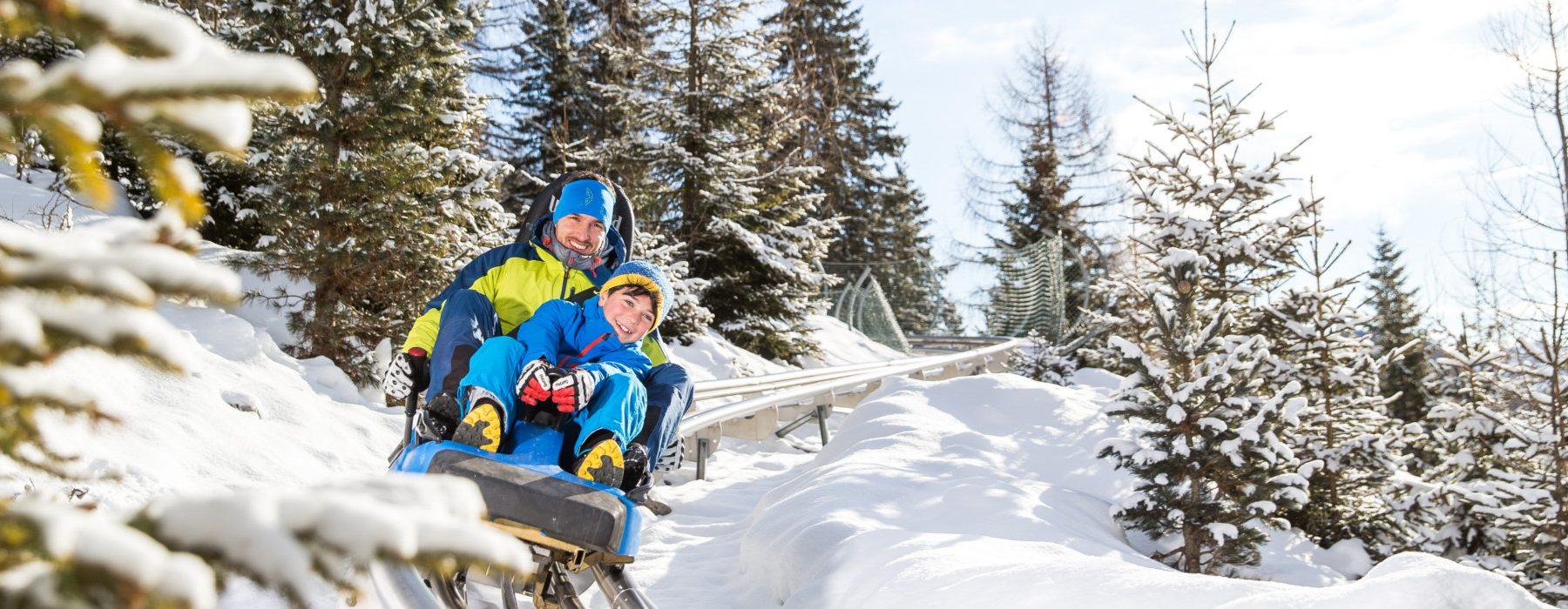 bob su rotaia alpine-coaster-gardonè-inverno-predazzo-val-di-fiemme trentino
