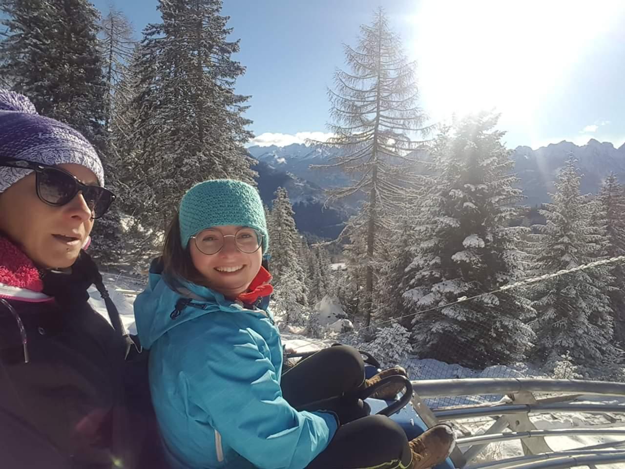 Alpine coaster Gardonè Predazzo in val di Fiemme - bob a due posti