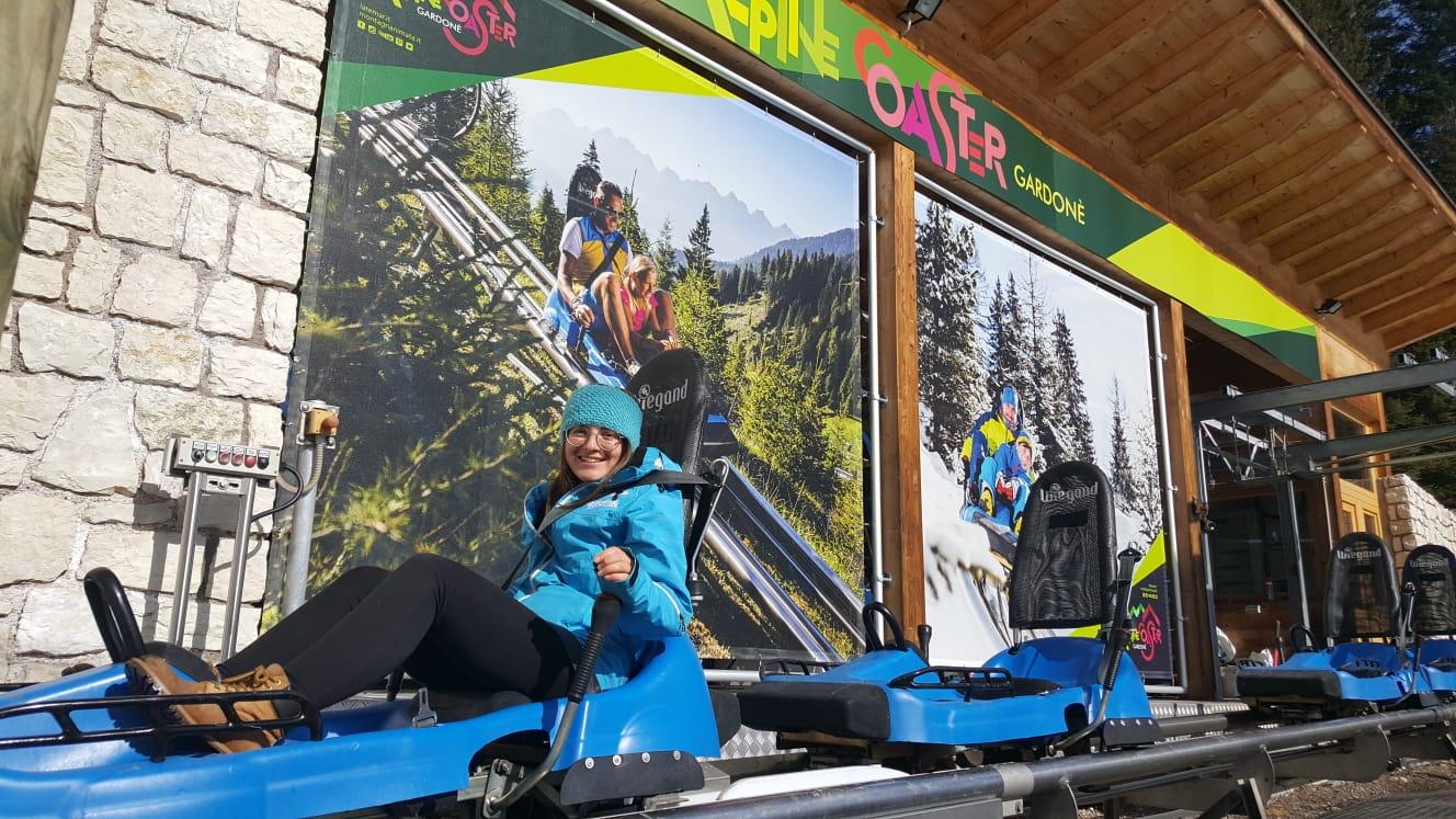alpine coaster gardonè predazzo val di fiemme - partenza